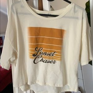 sunset chaser cropped t